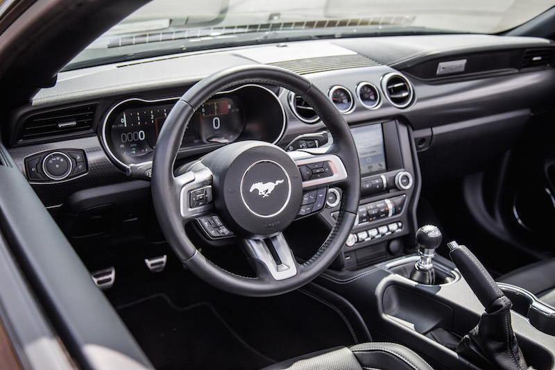 2018 Ford Mustang GT Convertible interior