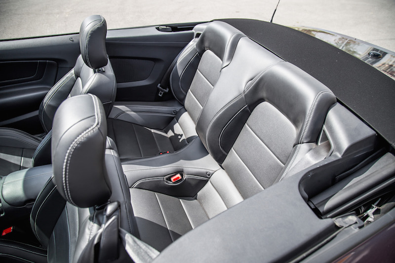 2018 Ford Mustang GT Convertible rear seats