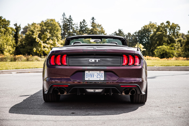 2018 Ford Mustang GT Convertible full rear view
