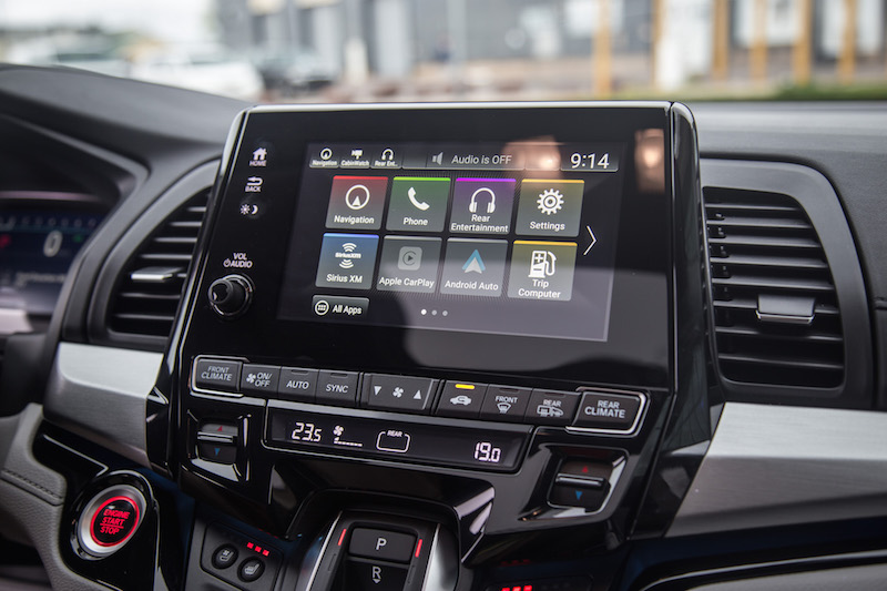 2018 Honda Odyssey new infotainment display screen