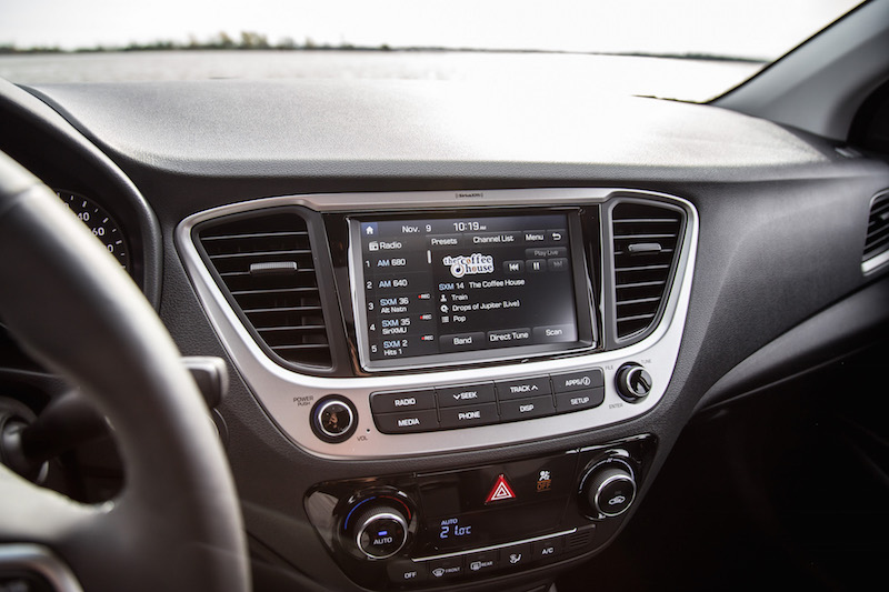 2018 Hyundai Accent new for this year2018 Hyundai Accent 7 inch infotainment screen