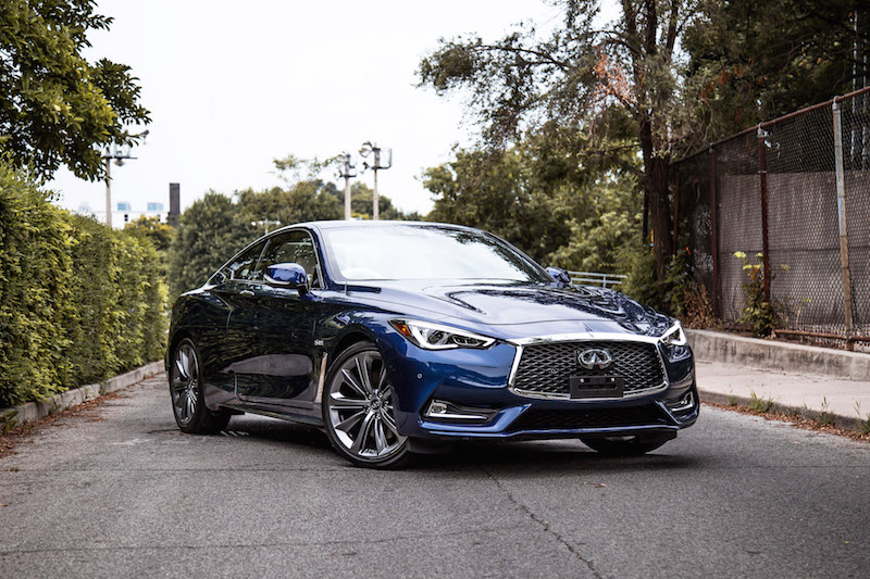 2018 Infiniti Q60 Red Sport 400 AWD electric indigo