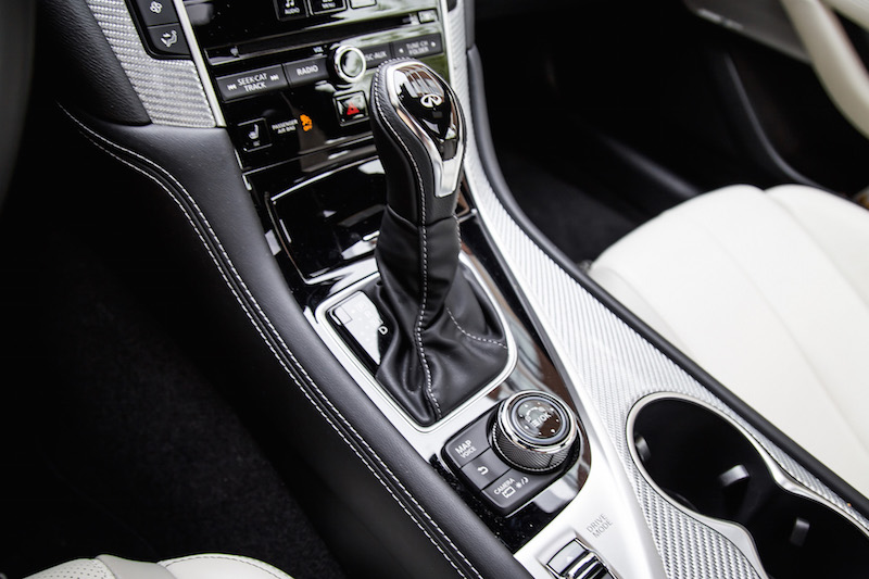 new gear shifter infiniti q60 2018
