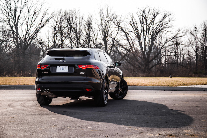 2018 Jaguar F-PACE R-Sport 20d rear quarter view