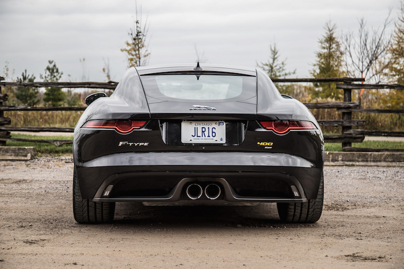 2018 Jaguar F-Type 400 Sport Coupe rear view exhaust lights