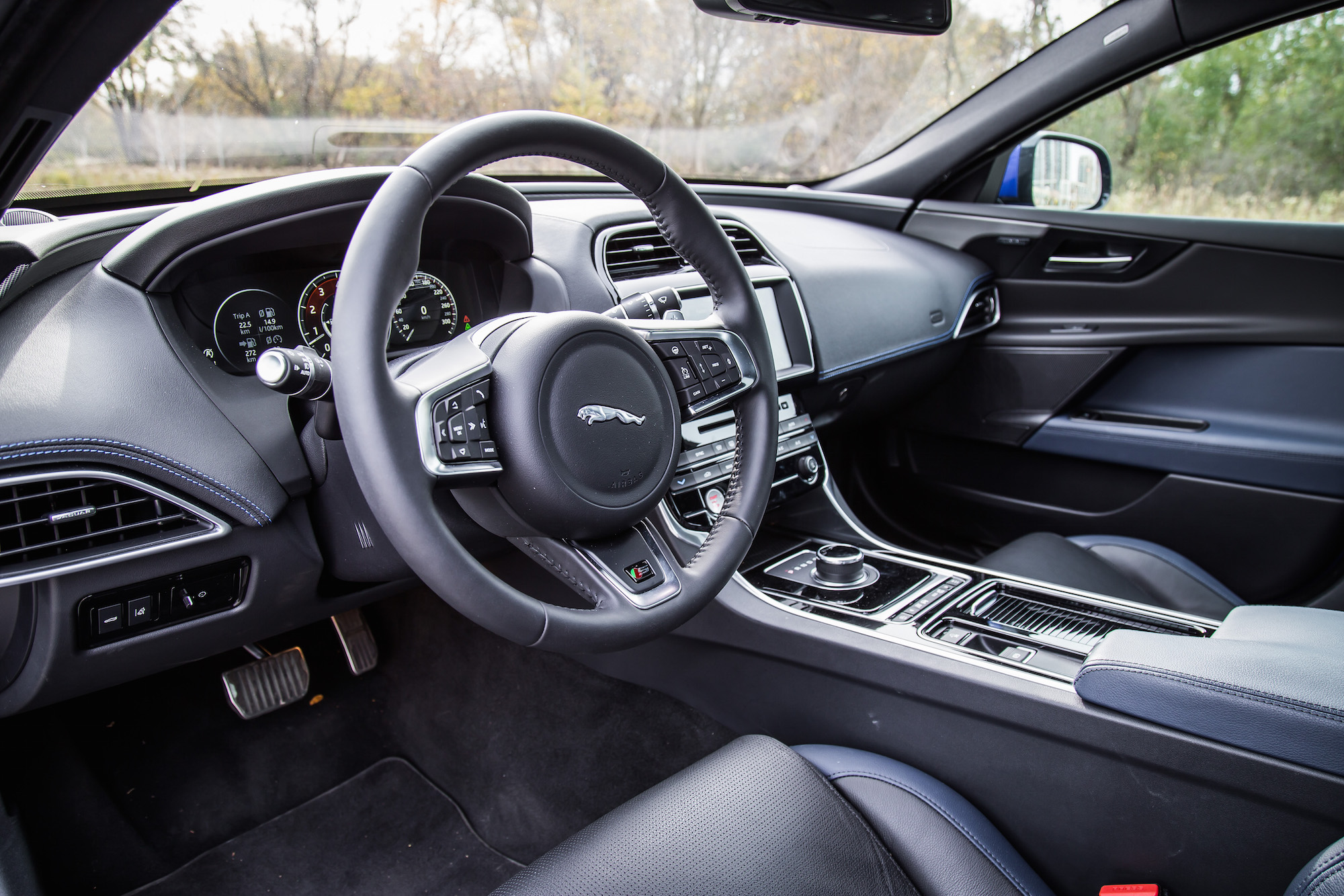 2018 Jaguar XE S Interior Black Blue ...