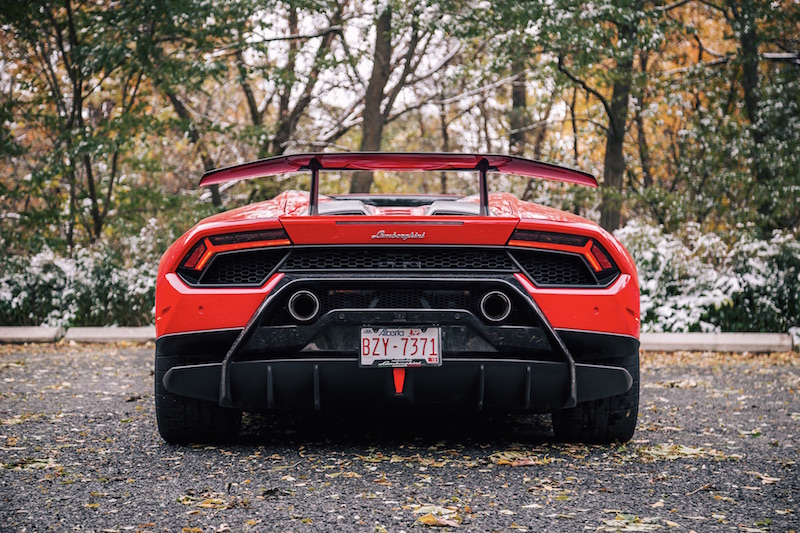 2018 Lamborghini Huracan Performante Spyder rear full view