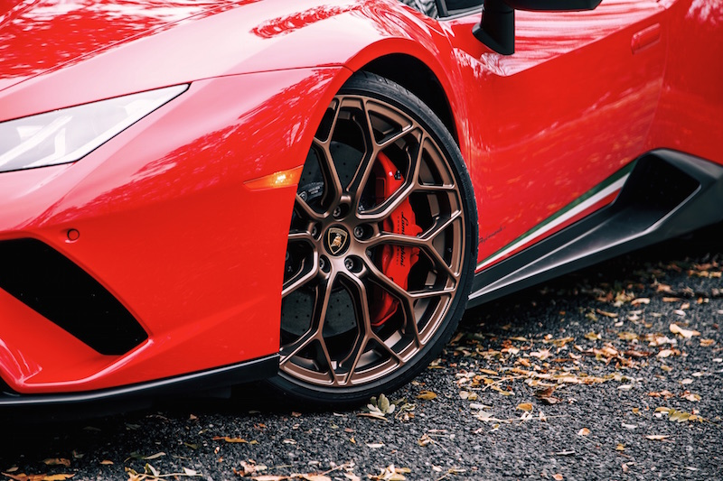 2018 Lamborghini Huracan Performante Spyder bronze wheels