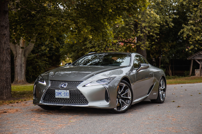 2018 Lexus LC 500h fall autumn leaves