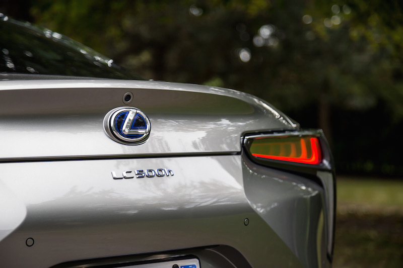 2018 Lexus LC 500h rear name badge