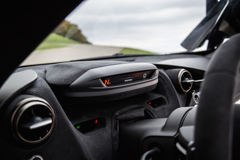 2018 McLaren 720S gauges in track mode