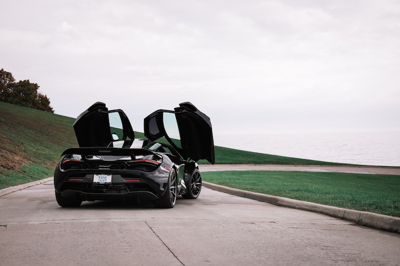 2018 McLaren 720S spoiler and doors up