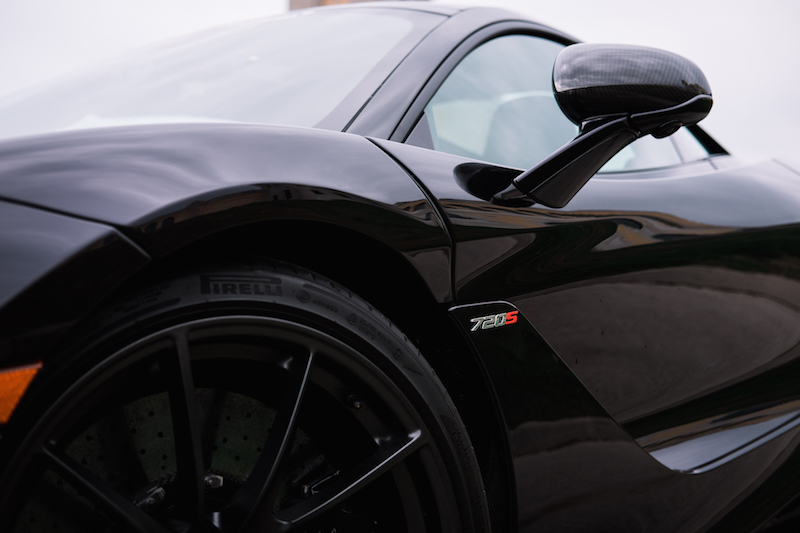 2018 McLaren 720S side fender badge
