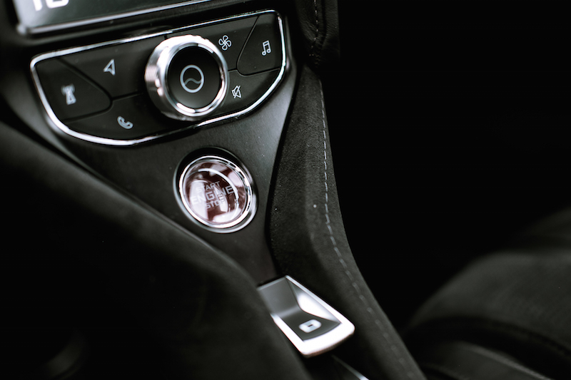 2018 McLaren 720S engine start button