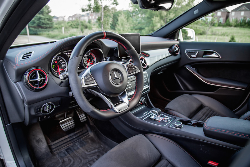 2018 Mercedes-AMG GLA45 black interior