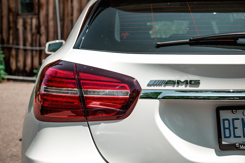 2018 Mercedes-AMG GLA45 badge rear lights