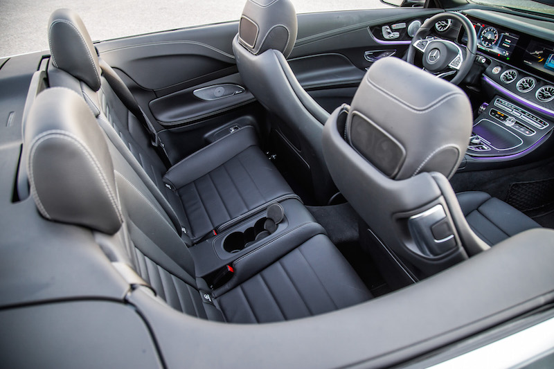 2018 Mercedes-Benz E400 Cabriolet rear seat legroom