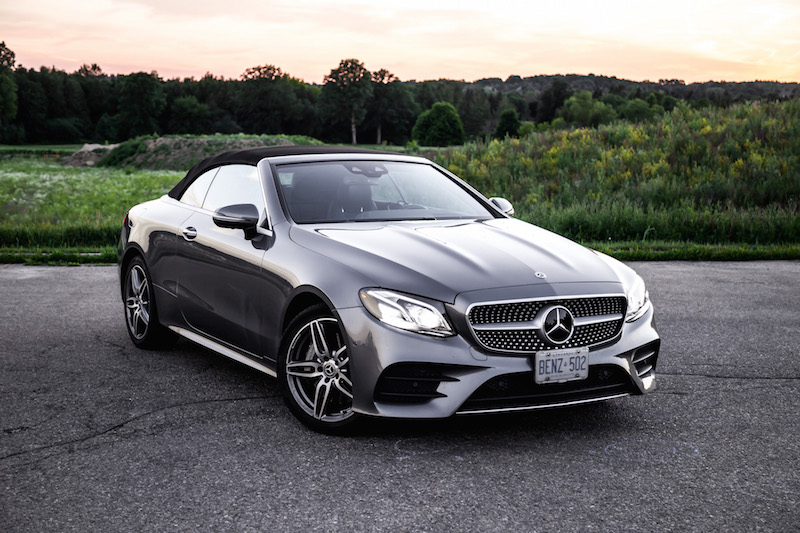 e-class cabriolet selenite grey black fabric roof