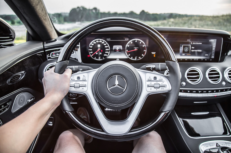 2018 Mercedes-Benz S-Class Cabriolet leather wood steering wheel