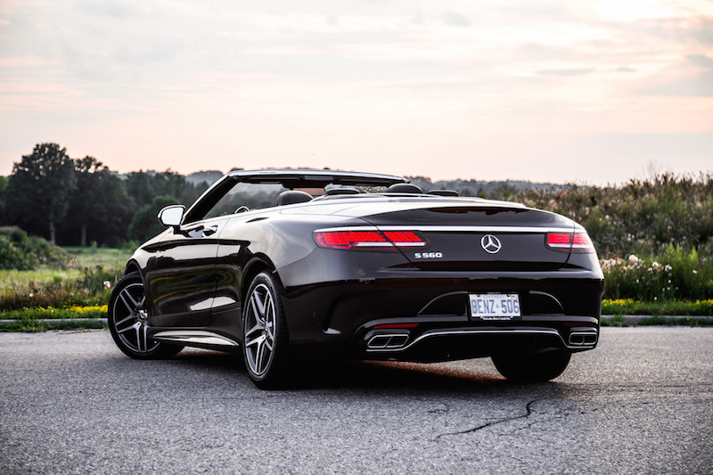 2018 Mercedes-Benz S-Class Cabriolet roof down