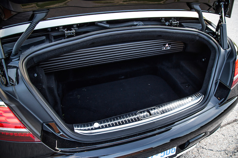2018 Mercedes-Benz S-Class Cabriolet trunk space