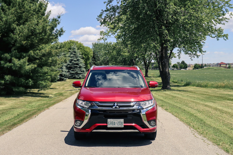 2018 Mitsubishi Outlander PHEV red