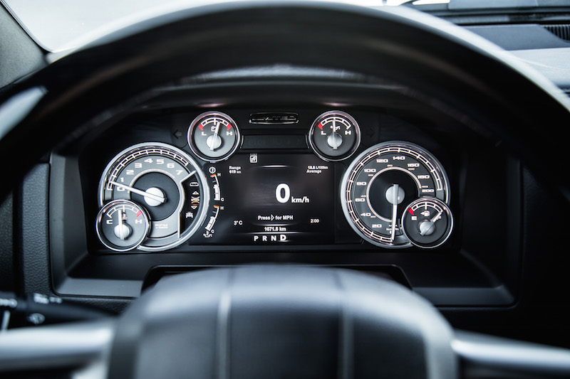 2018 RAM 1500 Limited Tungsten Edition gauges