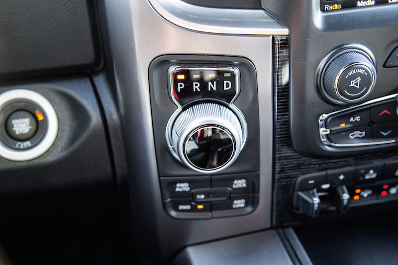 2018 RAM 1500 Limited Tungsten Edition rotary gear selector