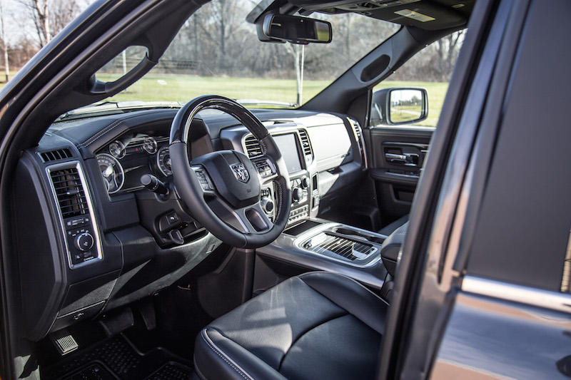 2018 RAM 1500 Limited Tungsten Edition interior black