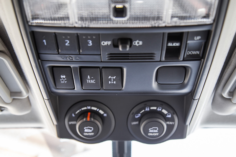 2018 Toyota 4Runner TRD Pro off-road controls