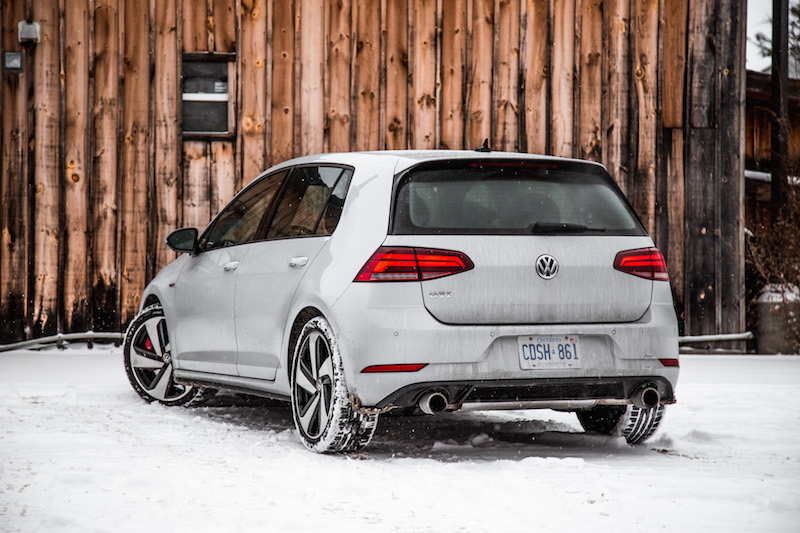 2018 Volkswagen Golf GTI gray silver paint