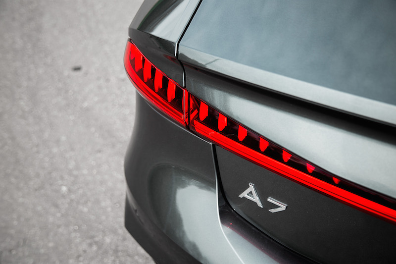 2019 Audi A7 taillights and badge