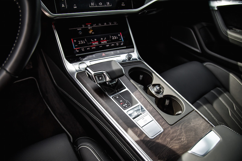 2019 Audi A7 center console gear shifter