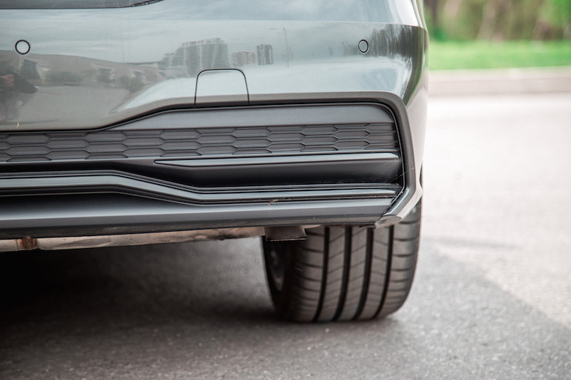 2019 Audi A7 hidden rear exhaust behind bumper