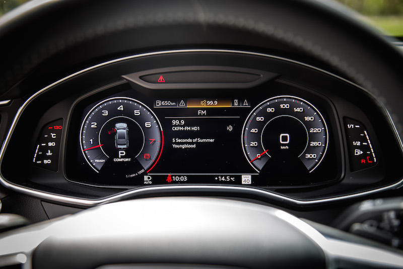 2019 Audi A7 virtual cockpit gauges