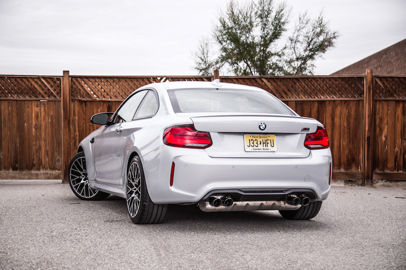 2019 BMW M2 Competition rear quarter view