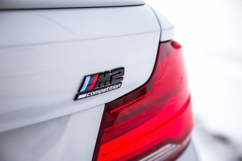2019 BMW M2 Competition badge on rear