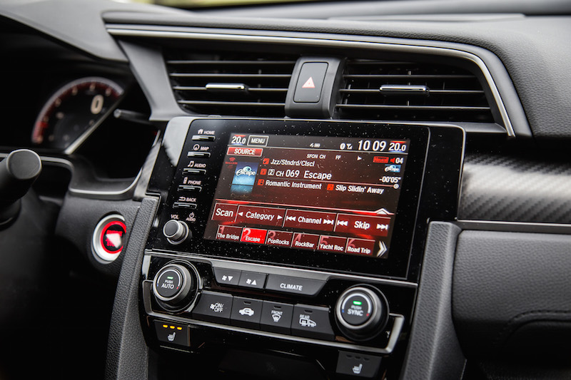 2019 Honda Civic Si Coupe new infotainment screen unit