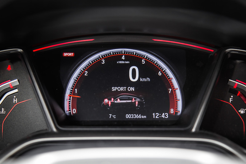 2019 Honda Civic Si Coupe sport mode on