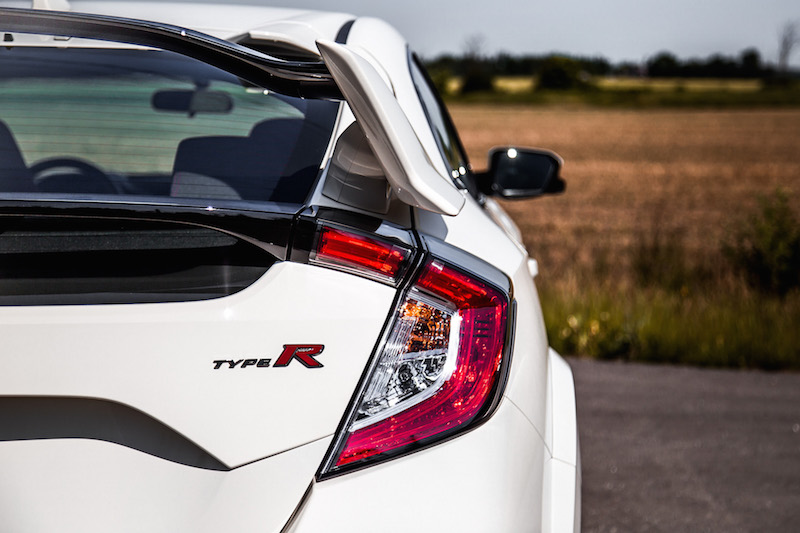 2019 Honda Civic Type R badge rear taillights