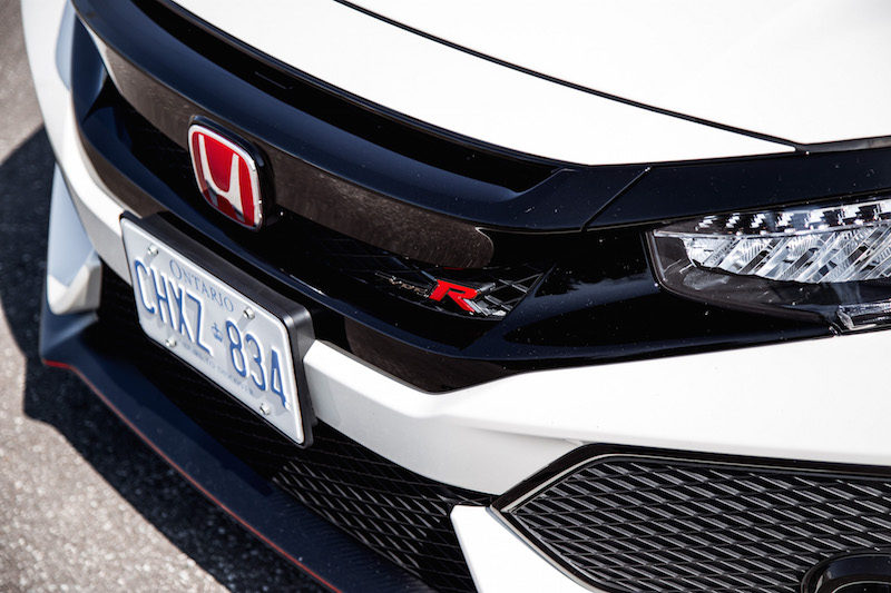 2019 Honda Civic Type R front grill badge