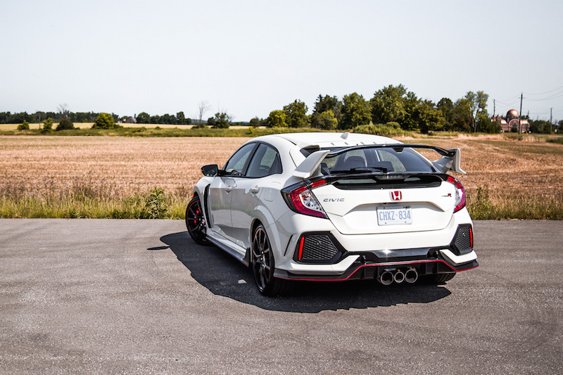 2019 Honda Civic Type R championship white rear end