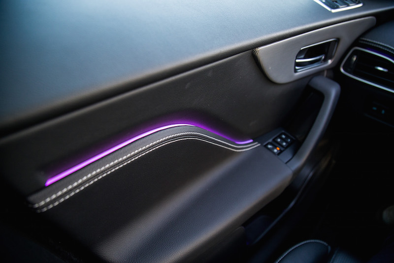 2019 Jaguar F-Pace S purple ambient lighting