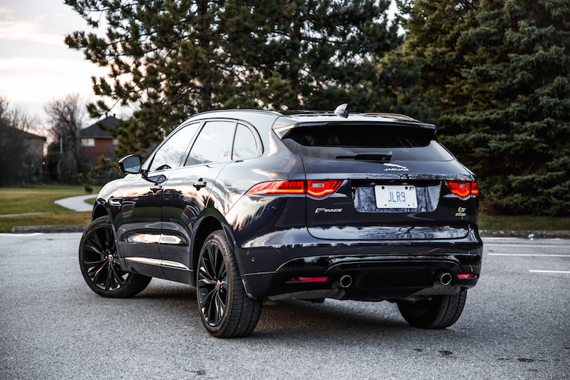 2019 Jaguar F-Pace S rear quarter view