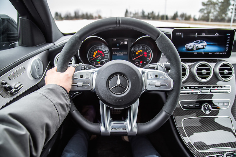 2019 Mercedes-AMG C 43 Wagon amg driver's package steering wheel alcantara leather