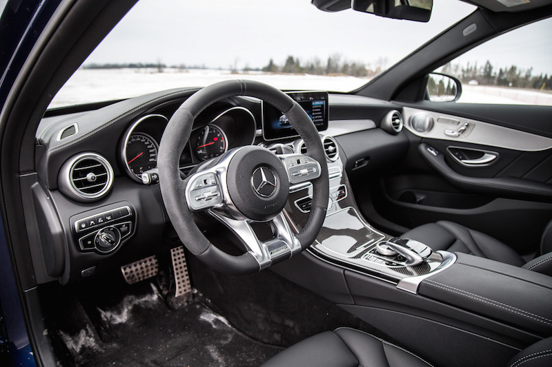2019 Mercedes-AMG C 43 Wagon black interior