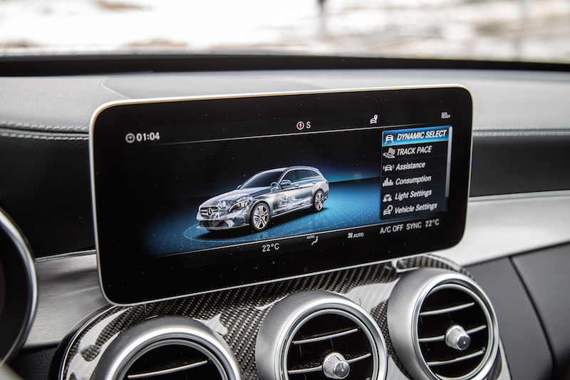 2019 Mercedes-AMG C 43 Wagon new widescreen infotainment screen display