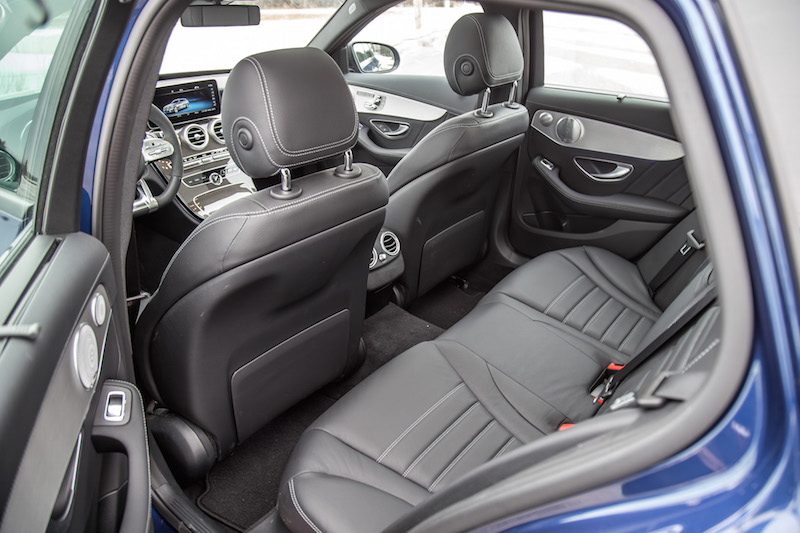 2019 Mercedes-AMG C 43 Wagon rear seats