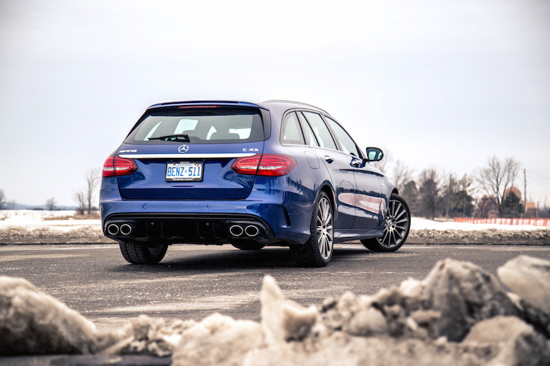 2019 Mercedes-AMG C 43 Wagon rear view