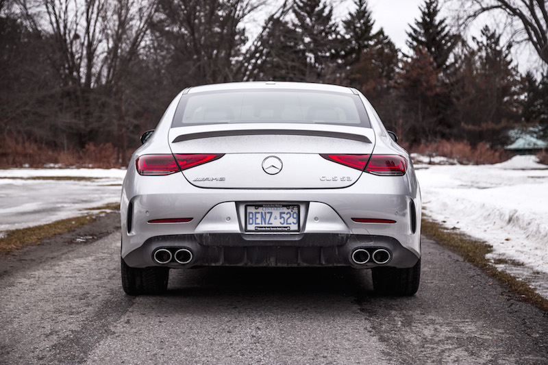 2019 Mercedes-AMG CLS 53 rear view spoiler exhausts
